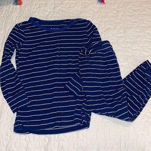 Kickee Pants Navy Stripe PJ Set